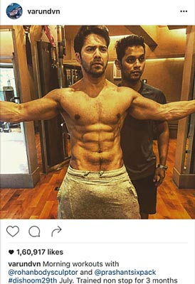 Hot Bollywood Actors Fitness Workout Abs Images