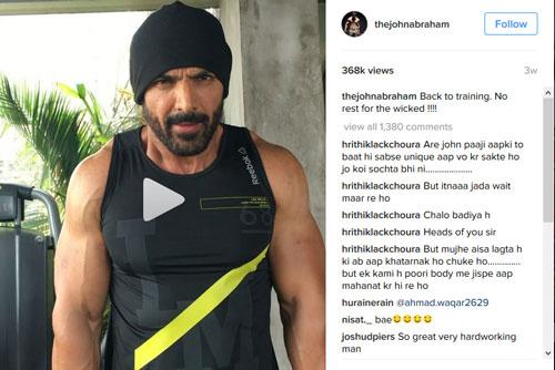 Hot Bollywood Actors John Abraham Instagram