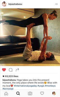 Bipasha And Karan Singh Grover Workout Pictures