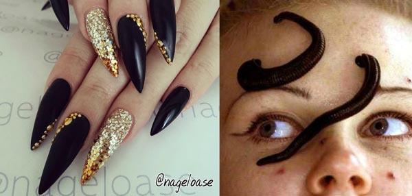 Crazy Beauty Trends Latest Stiletto Nails Leech Facial