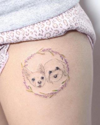 Cute Tatto Design Of Pets