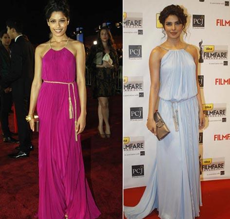 Freida & Priyanka Same Dress