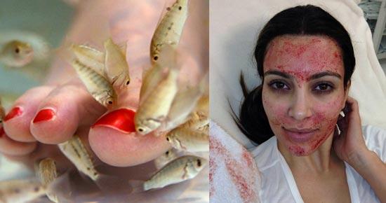 Indian Beauty Trends Fish Pedicure Vampire Facial Lift