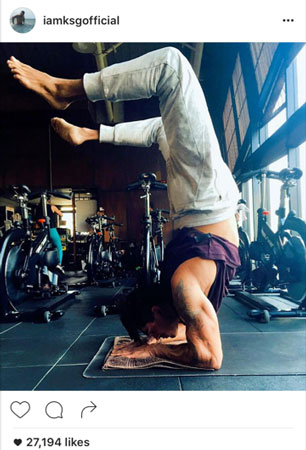 Karan Singh Grover Fitness Pictures