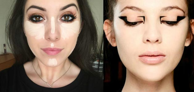 Latest Beauty Makeup Trends Baking Graphic Liner