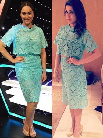 Sonakshi And Hanshika Same Outfit