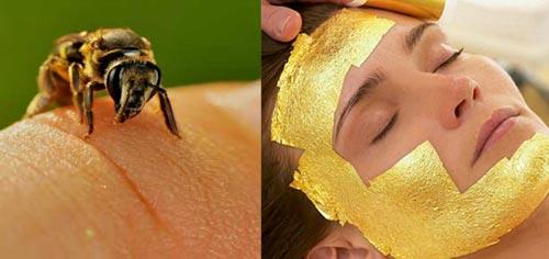Weird Beauty Trends 2016 Bee Sting Gold Facial