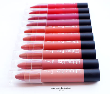 Best Lip Crayons India Faces Ultime Pro Creme Lip Crayon Review