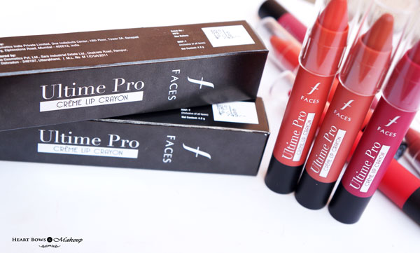 Faces Ultime Pro Creme Lip Crayons