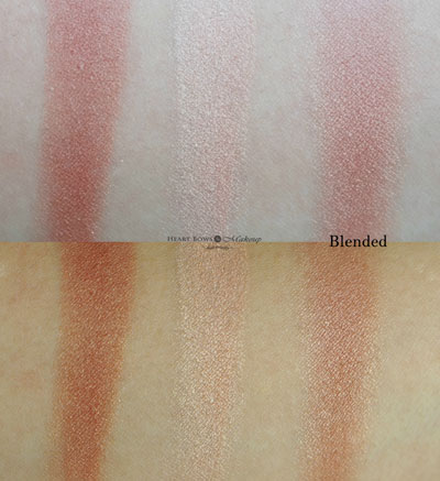 Nyx Ombre Blush Nude To Me Swatches Review Fair Dark Skin