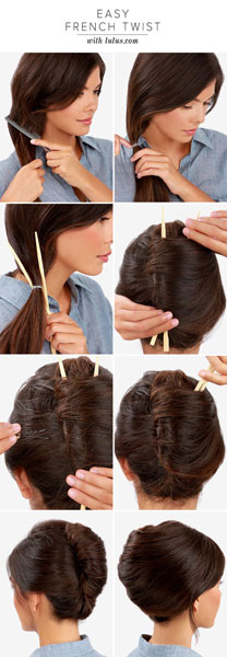 Easy Hairstyles For Long Hair French Twist