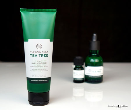 The Body Shop Tea Tree 3 In1 Wash Scrub Mask Review Price Buy India
