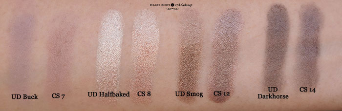 Ud Naked Eyeshadow Palette Cs Revealed Comparison Swatches Review Dupes1