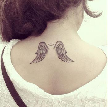 Best Simple Upper Back Tattoos Angel Wings