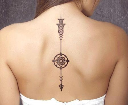 Best Small Back Tattoos American Arrow