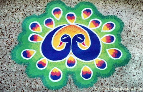 Best Small Peacock Rangoli Designs Patterns