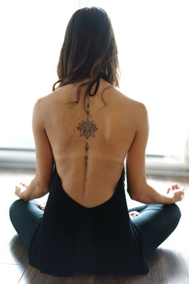 Mid Back Spine Tattoo Images