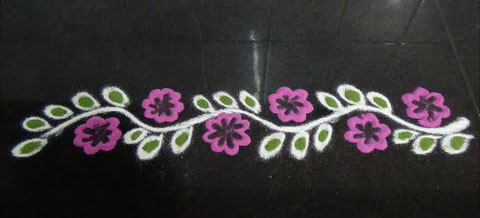 Simple Border Rangoli Patterns Designs For Beginners