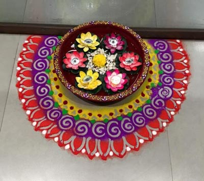 Simple Rangoli Designs For Corner Of House