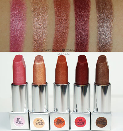 Best Shimmer Lipsticks India Colorbar Diamond Shine Lipstick Swatches Review