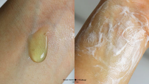Clean Clear Pimple Clearing Face Wash Swatch Review