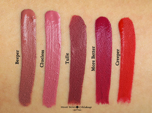 Colourpop Ultra Matte Lip Beeper Clueless Tulle More Better Creeper Swatches Review Buy