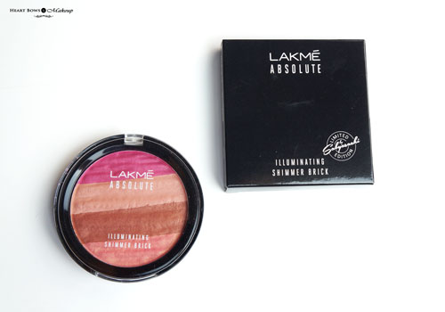 Lakme Absolute Illuminating Shimmer Brick Pink Review Swatches Price Buy Online
