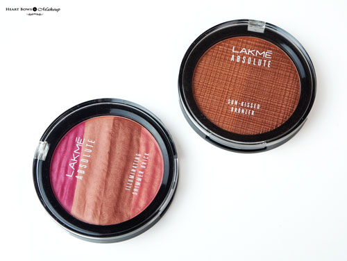 Lakme Absolute Illuminating Shimmer Brick Sun Kissed Bronzer Review Swatches Price Buy India