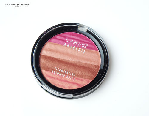 Lakme Illuminating Shimmer Brick Pink Review Swatches