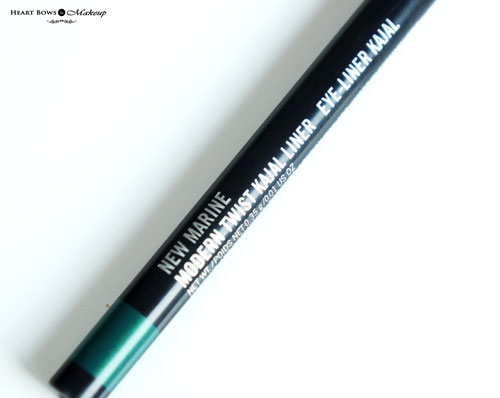 Mac New Marine Modern Twist Kajal Liner Review Swatches Price
