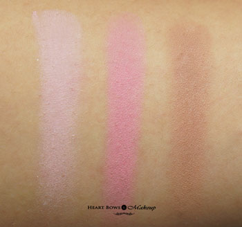 Maybelline V Face Blush Contour Swatches Review