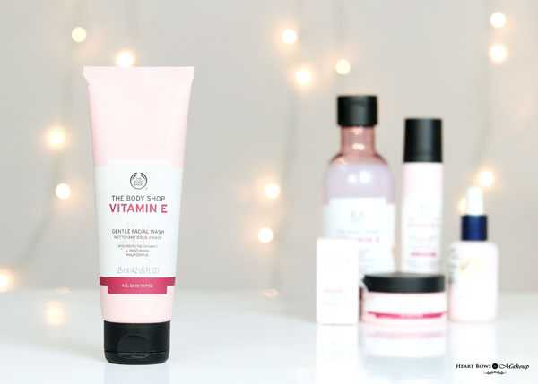 The Body Shop Vitamin E Gentle Facial Wash Review Price Buy India