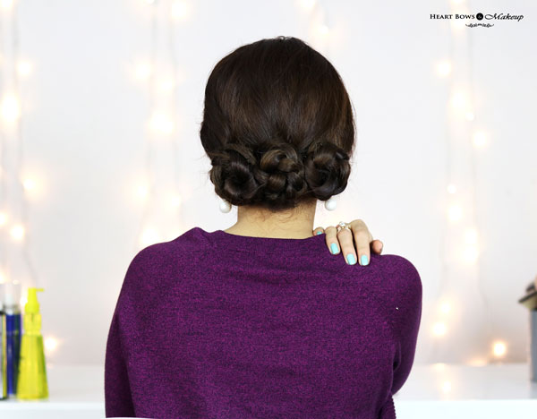 Easy No Heat Hairstle For Frizzy Hair Braided Buns
