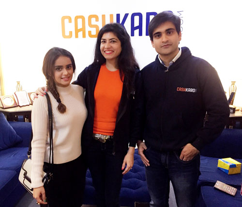 Cashkaro Founders With Lisha B Leading Fashion Blogger