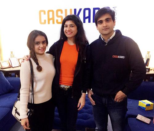 Cashkaro Founders With Lisha B Leading Fashion Blogger
