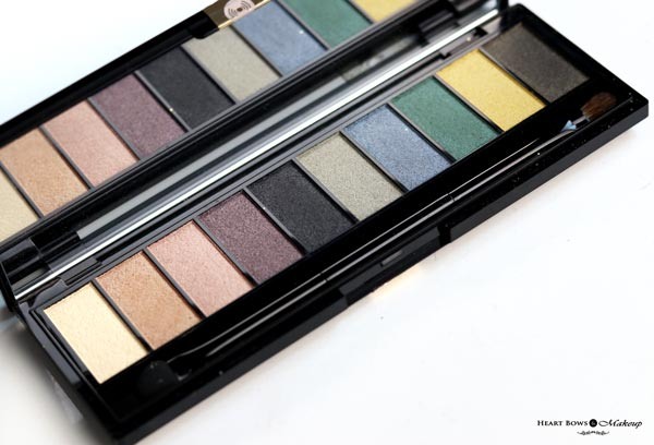 L'Oreal Paris La Palette Gold Eyeshadow Review Swatches