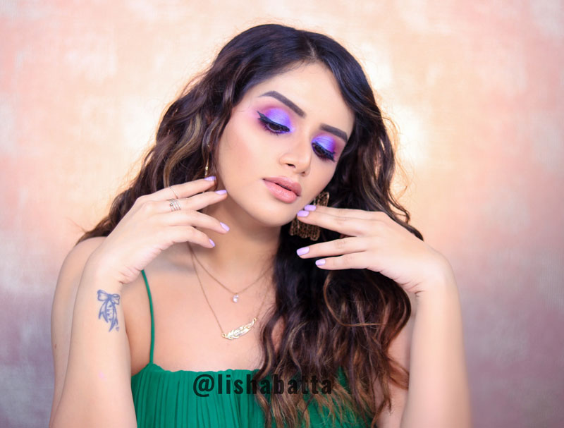 Dramatic Purple Eyemakeup Tutorial Indian Beauty Blogger
