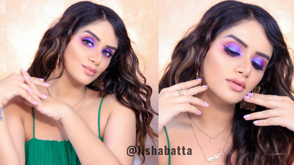 Easy Purple Eyeshadow Look Tutorial Step By Step Lisha Batta