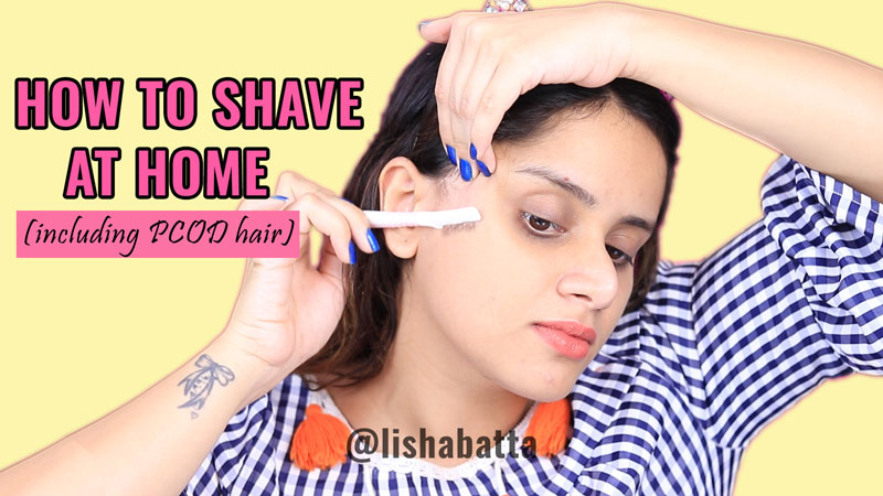 How To Shave Hair At Home With Razor Tutorial 1